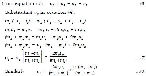Inelastic Collision Kinetic Energy Elastic Collision In One